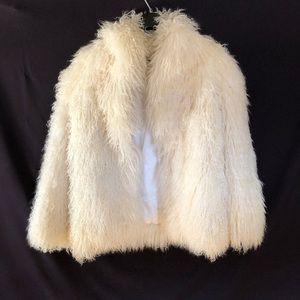 Jackets & Blazers - Vintage Tibet lamb fur coat